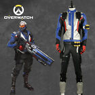 Overwatch Soldier 76 Cosplay Costume Jacket Coat Outfit Gloves Adult Custom Size