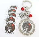 S.KEYRING Stars & Back (Txt) BOX Nanny,Mummy,Daughter,Grandad,Mum Christmas gift