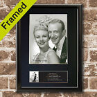 FRED ASTAIRE AND GINGER ROGERS Signed Mounted Autograph Photo Prints A4 599