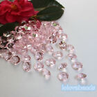 10mm 4CT  Pink Acrylic Diamond Confetti Wedding Party Table Scatters Crytals