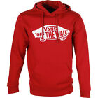 Vans Otw Mens Hoody - Red Dahlia Bright White All Sizes