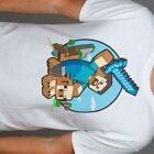 Minecraft Steve Riding Pig T-Shirt - S, M, L, XL - Official Licensed Graphic Tee