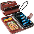 Samsung Galaxy A3(2016) - Genuine Lauxary Leather Antique Wallet Flip Case Cover
