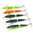 1/5/10pz Esche Artificiali Per Pesca 2 Jointed Fishing Lures Baits 6# Gancio