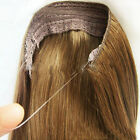 140g Hidden Invisible Wire In Weft Remy 100% Human Hair Extensions No Clip In/on