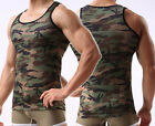 Men's Army Camo Camouflage Underwear Sleeveless T-Shirt Tank Top Vest Muscle GYM