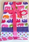 New Luvable Friends baby girl layette 4 Swaddling Flannel Receiving Blankets