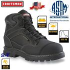 Steel Toe Black Leather Waterproof Work Boot Slip Resistant Boots ASTM rated cf