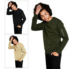 Brave Soul Jacob Mens Sweatshirt Top Crew Neck Zip Sleeve Pocket Jumper Pullover