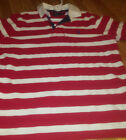 Polo Ralph Lauren Costom Fit Red/White Polo Xl