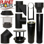 Black Shieldmaster Twin Wall Insulated Flue Stove Pipe Multifuel Wood Burning