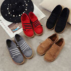 Womens New Fashion Cozy Sneakers Canvas Casual Breathable Lace Up Sport Shoes
