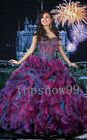 Hot Beaded Ball Gown Quinceanera Dresses Prom Party Wedding Dress Pageant Dress