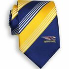 52151 WEST COAST EAGLES AFL TEAM COLOURS & LOGO STRIPED MENS DRESS NECK TIE