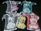 BARBIE SINDY DOLL CLOTHING LINGERIE UNDERWEAR BRA KNICKERS & GOWN 3 PIECE SET UK