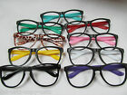 BLACK WAYFARER NERD GEEK GLASSES RETRO VINTAGE FRAME NO LENS 9 COLOURS UKSELLER