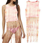 Womens Tie Dye Pattern Cami Top Ladies Designer Cotton Beach Holiday Cover Up