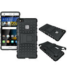 Shockproof Hybrid Heavy Rugged Hard Case Stand Back Cover For Huawei P8 P9 Lite