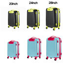"""20"""" 24"""" 28"""" Carry On Luggage Travel Bag Spinner Suitcase ABS Trolley Blue Black"""