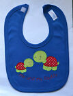 *PERSONALISED*- BABY BIB - CUTE TURTLE APPLIQUE -