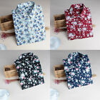 Spring Floral Shirts Cotton Blouses Long Sleeve Casual Tops For Women Fashion
