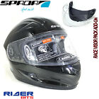 SPADA RP700 HELMET SHINY BLACK ROAD RACING ACU SHARP 4STAR SMOKE VISOR MOTORCYCL