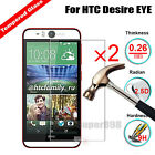 2Pcs Real Premium 9H Protective Tempered Glass Film LCD Screen Protector For HTC