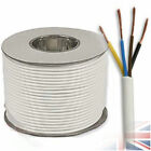 White Round 3184Y 0.75mm 6 Amp 4 Core Flexible Cable Wire Electrician Install