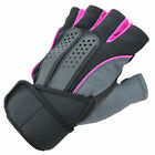 Durable Men Weight Lifting Gym Fitness Workout Training Exercise Half Gloves