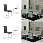 Maida Grey Extending 120-160cm High Gloss Dining Table + Core Dining Chairs