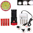 Original SKYRAY 25000LM 10x XML T6 LED Flashlight Torch Light Work Lamp 4*18650