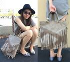 Rimen & Co. Fringe Indie Inspired Decorated Tote Hand Bag