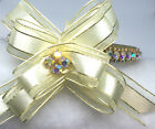 Sugarlicious Pets ™~Golden Cream Bow~Crystal Rhinestone Dog Cat Collar USA