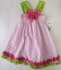 Rare Too 12 Months 3T Pink Checkered Sleeveless Sun Dress Baby Girl Clothing