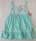 Sophie Rose 12 Months Mint Multi Pattern Bunny Dress Baby Girls Clothing