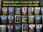 BOBBY BONILLA _ 3 Cards for $1.00 _ Many 3-card Lots to Choose From