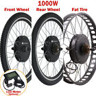 "36/48V Electric Bicycle E-Bike 26"" Front Rear Wheel Conversion Kit Cycling Motor"