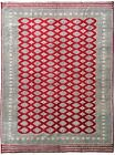 Original 9x12 Wool & Silk Jaldar Traditional Authentic Handmade Red Allover  Rug
