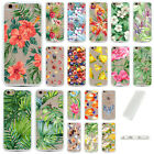Summer Palm Tree Leaves Soft TPU Bumper Hard Back Case For IPhone 7Plus SE 6S 5S