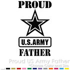 PROUD US ARMY FATHER MILITARY AIR FORCE NAVY PARENTS CUSTOM VINYL DECAL STICKER