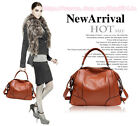 Women Lady's Casual Leisure Genuine Leather Shoulder Bag Handbag Cross Body Bag
