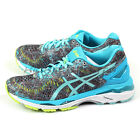 Asics GEL-Kayano 23 Shark/Aruba Blue/Aquarium Support Running Shoes T6A5N-9678