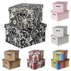 STYLISH 2pc Decorative Storage BOXES with Lid ARCHIVE A4 Box Cardboard ORGANISER
