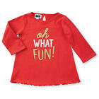 """Mud Pie """"""""oh WHAT FUN""""Sentiment Christmas Tunics Size 12M-5T #1152046F NWT"""