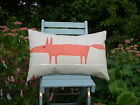 "Harlequin Scion Fabric Cushion Cover - 'Mr Fox"" Paprika"