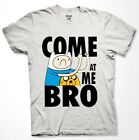 Adventure Time Come at me bro T-shirt Jake Finn cartoon Fan Men Shirt S-3XL