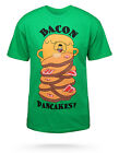 Adventure Time Bacon Pancakes T-shirt Finn Jake Cartoon Fan Gift Men Shirt S-3XL