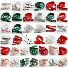 Full Reel io Grosgrain Christmas Crafts Tying Hair Cards Ribbon - (5m) 5 Metre
