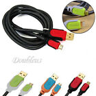 High Speed 5Ft 1.5m Micro USB Data Charging Woven Braided Cable For Mobile Phone