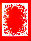 4 Embossed Snowflake Frame Die Cuts, Christmas, M.B. Many Colours